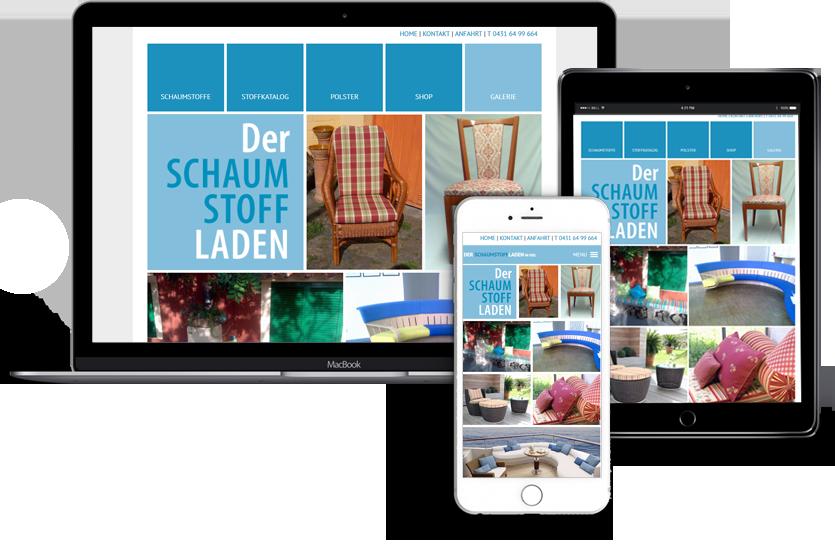 Webdesign für Der Schaumstoffladen Handy Tablet Desktop