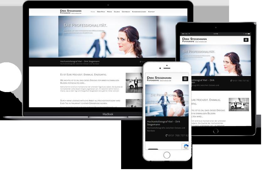Webdesign für Dirk Stegemann Gettorf