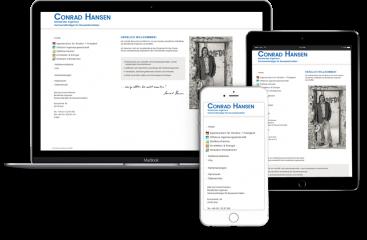 Webseitengestaltung, Website Conrad-Hansen