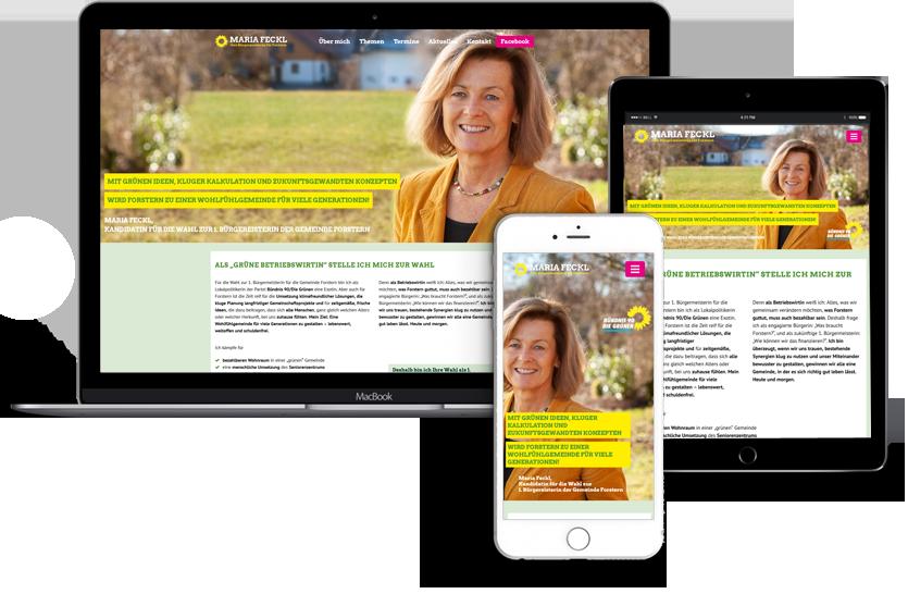 Webdesign für Maria-Feckl-–-Ihre-Bürgermeisterin-für-Forstern