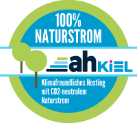 Klimafreundliches Hosting mit CO2-neutralem Naturstrom