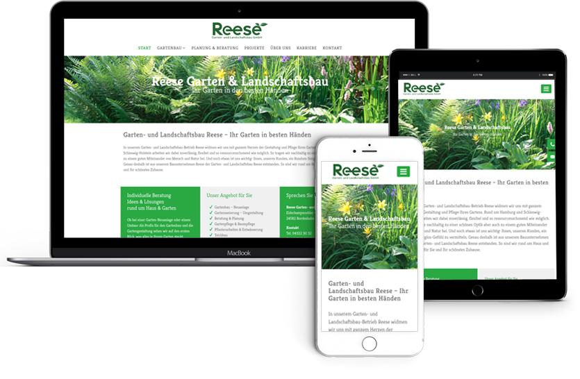 Texte und Webdesign-für-Reese-Gartenbau-Handy-Tablet-Desktop