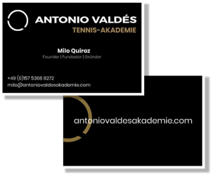 Visitenkarten-Antonio-Valdes-Tennisakademie