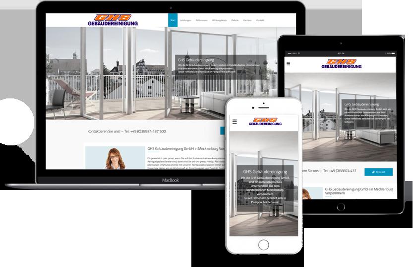 Webseitenerstellung-GHS-Gebäudereinigung-Schwerin