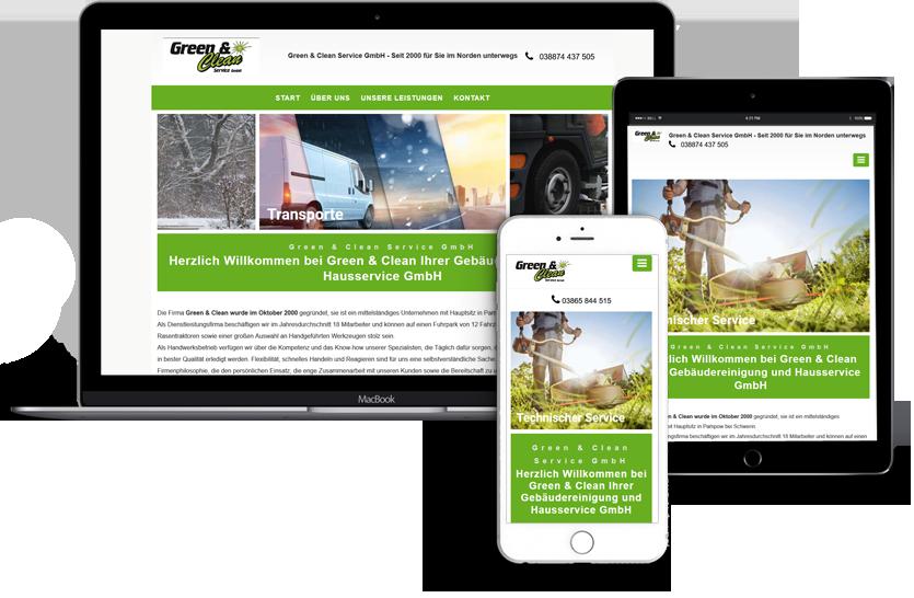 Webseitenerstellung-Green-Clean-Schwerin