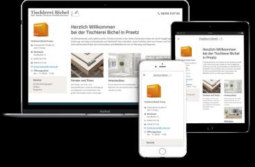 Webseitengestaltung-Tischlerei-Bichel-in-Preetz