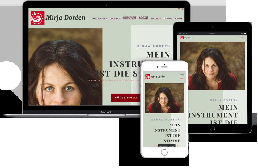Webdesign für Mirja Doreen / Sängerin
